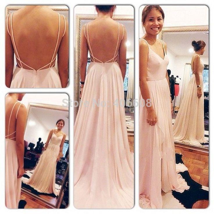 vestidos largos en chifon con espalda descubierta - Buscar con Google