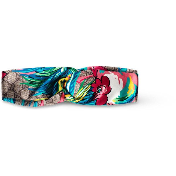Gucci Chinese New Year Headband ($375) ❤ liked on Polyvore featuring accessories, hair accessories, head wrap hair accessories, head wrap headband, headband hair accessories, gucci hair accessories and silk headband