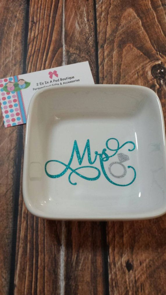 Hey, I found this really awesome Etsy listing at https://www.etsy.com/listing/223178330/mrs-ring-dish-wedding-gift-engagement