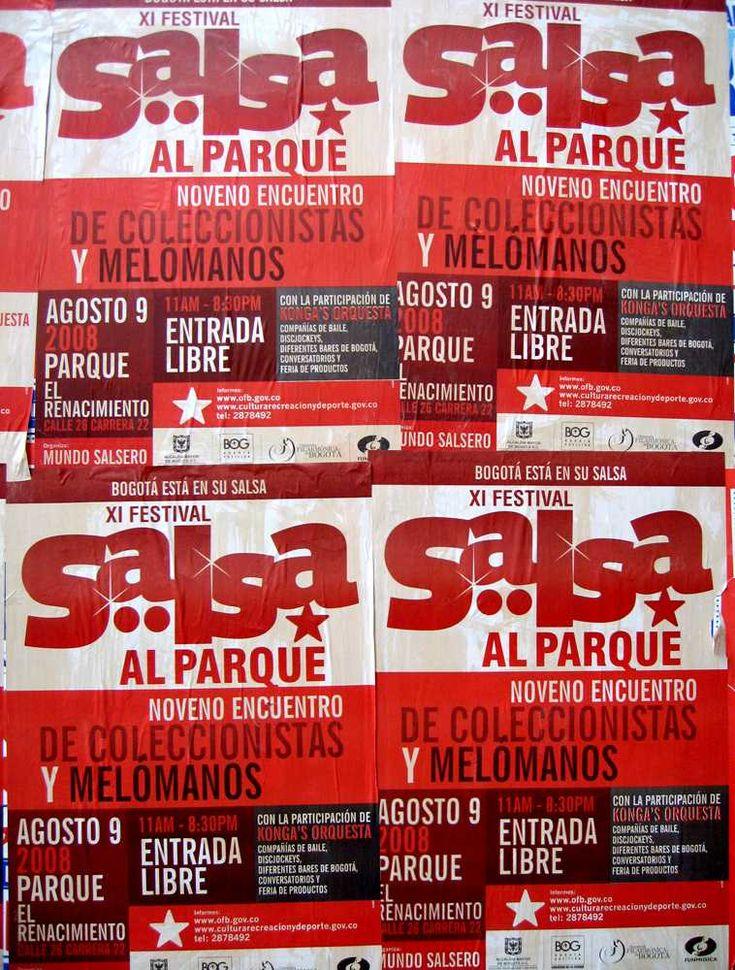 Afiches Salsa al Parque (2009)