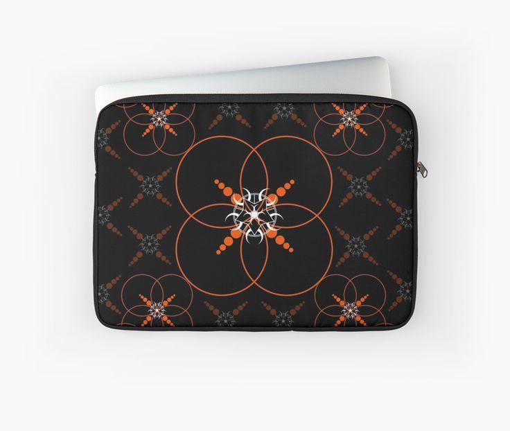 Orange Geometric Crop Circle by Mannzie
