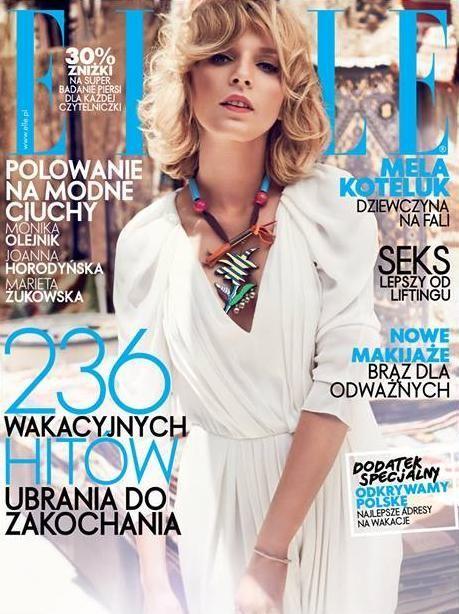 Mela Koteluk - Elle Magazine Cover [Poland] (August 2013)