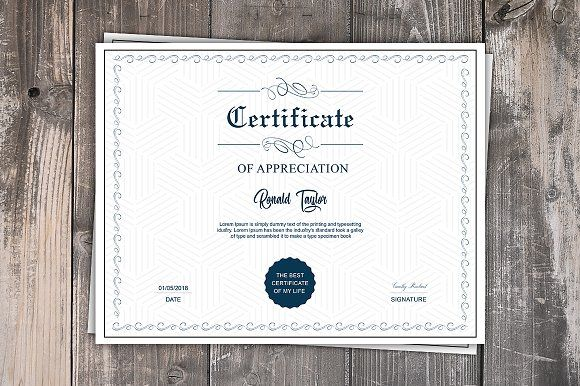 Multipurpose Certificate Template by Madhabi Studio on @creativemarket