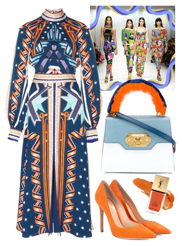 """""""Ribbons"""" by cherieaustin ❤ liked on Polyvore featuring Gianvito Rossi, Dolce&Gabbana and Yves Saint Laurent"""