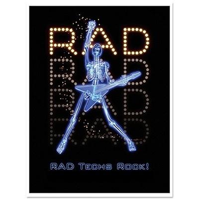 """Rad Techs Rock!"" our t-shirt for 2013 tech week"