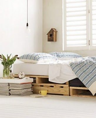Pallet bed - Buy Nothing New - www.buynothingnew.nl #bnnm12 #ontdekwatjehebt