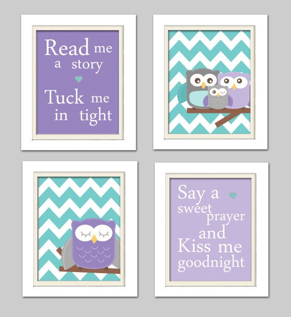 Hey, I found this really awesome Etsy listing at https://www.etsy.com/listing/200717780/nursery-wall-art-owl-nursery-purple-and