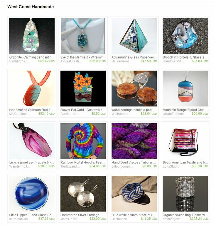 Curated by Kent Olinger from ImagesbyKentOlinger on Etsy. Lovelies from Team West Coast Handmade
