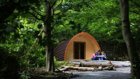 Our gorgeous camping pods mean your Castle Ward adventure can last longer © Peter Muhly