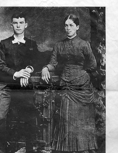 Dwight Eisenhower's parents on their wedding day in 1888. |  It is said that Dwight D. Eisenhower's mother, Ida Elizabeth Stover Eisenhower was a woman of color.  Eisenhower's maternal grandfather carried the surname of Link, there being only two Links families in the Virginia town they originated in ~ a black one and a white one.  Many years ago, a black researcher discovered that Ida's mother was from the black Links, a fact washed away in time.