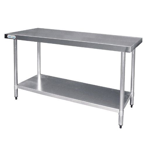 Vogue Stainless Steel Prep Table 1500mm Kitchen Restaurant Catering Commercial