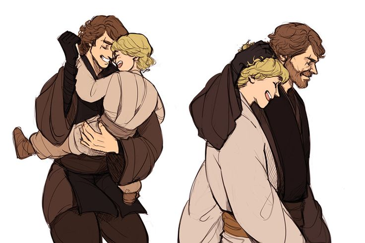Anakin & Luke Skywalker | Star Wars. If only this could have happened. :(