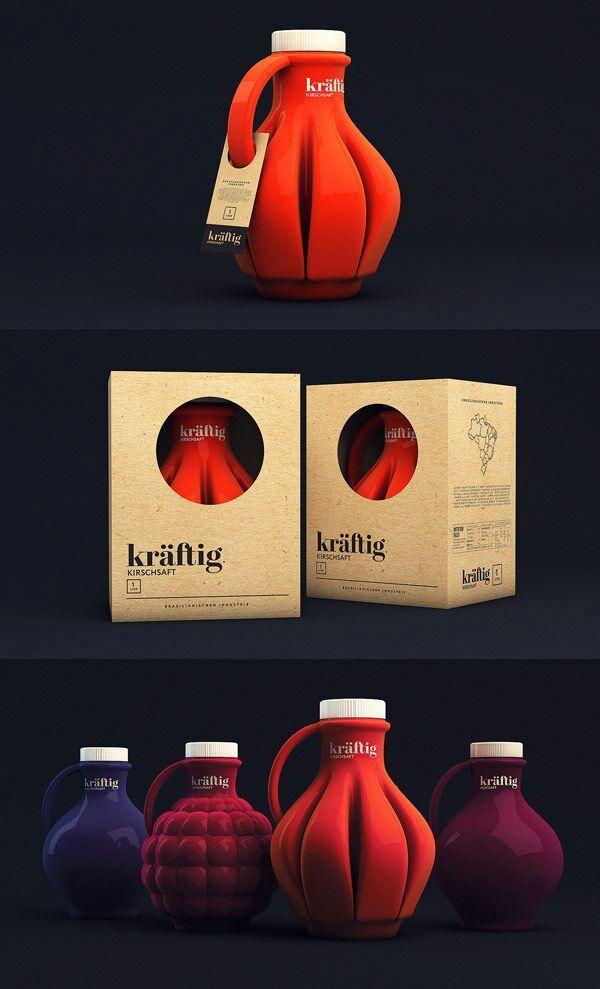 Kräftig juice package design by Isabela Rodrigues