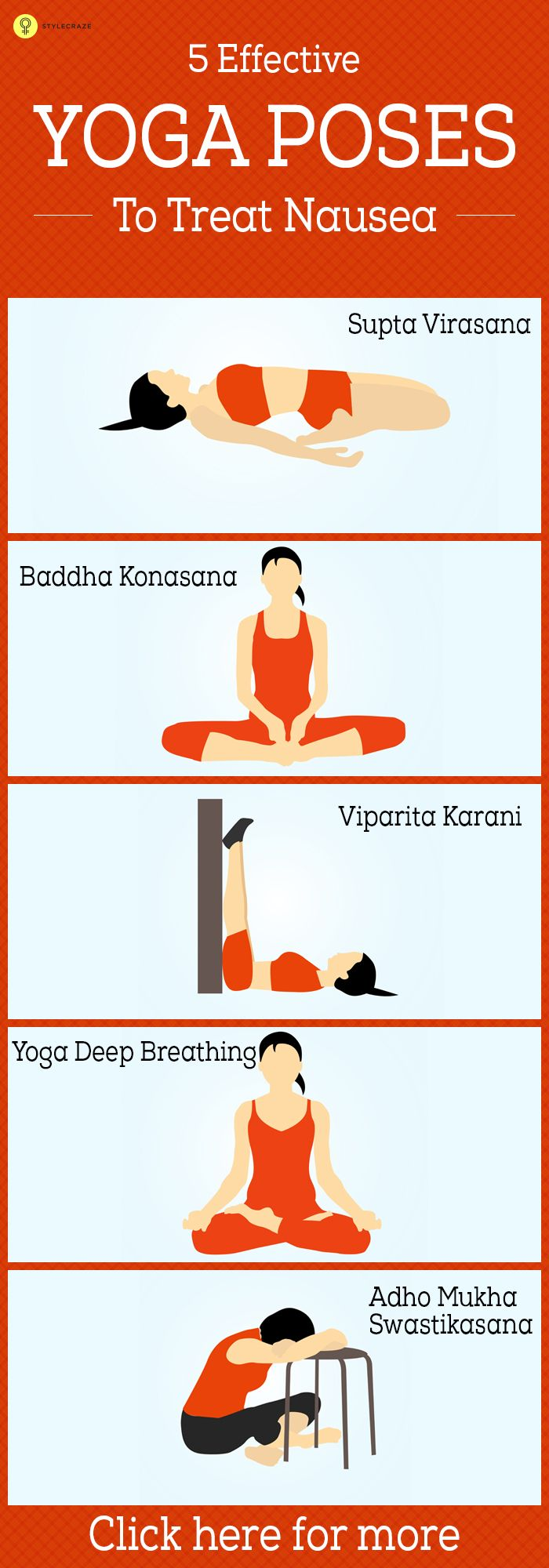 Do you feel nauseatic often? Do you want to try yoga for nausea? Here are 5 simple yoga poses that will help you cure and get rid of this ...