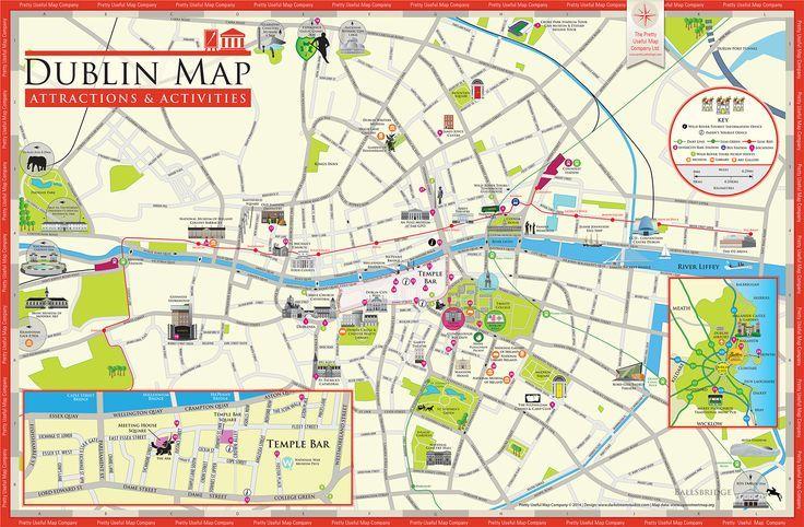 Dublin Ireland Map Dublin Ireland Dublin Irland Karte