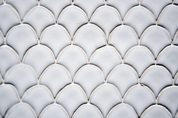 White fish scale tile.
