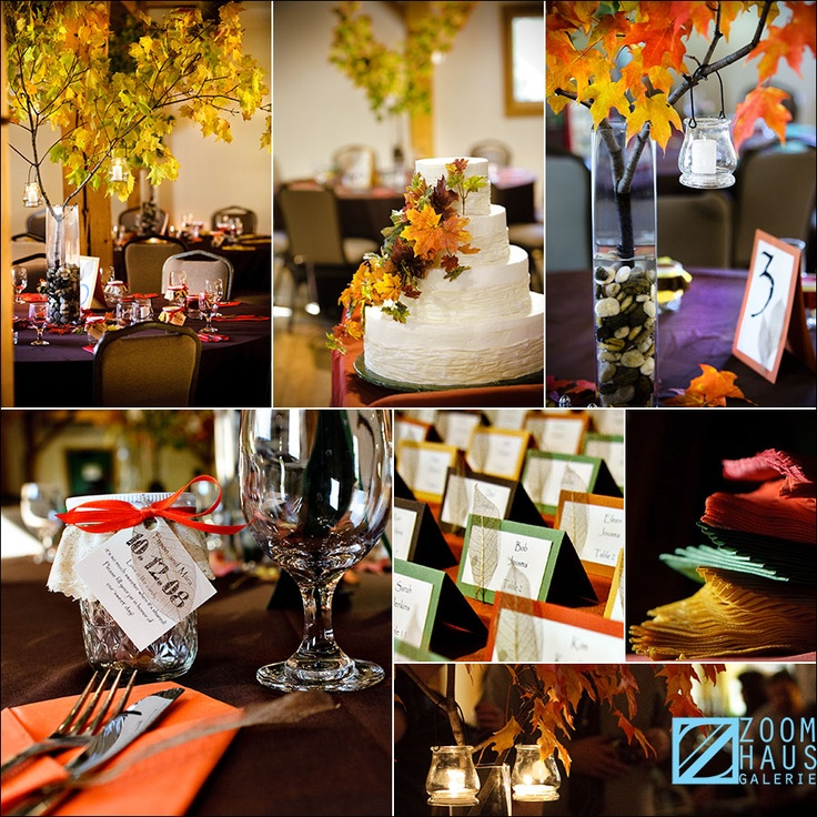 Live Branch Centerpieces For October Wedding