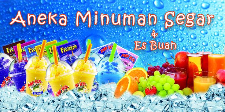 Banner Design Ruko Penjualan Minuman dan Jus Buah