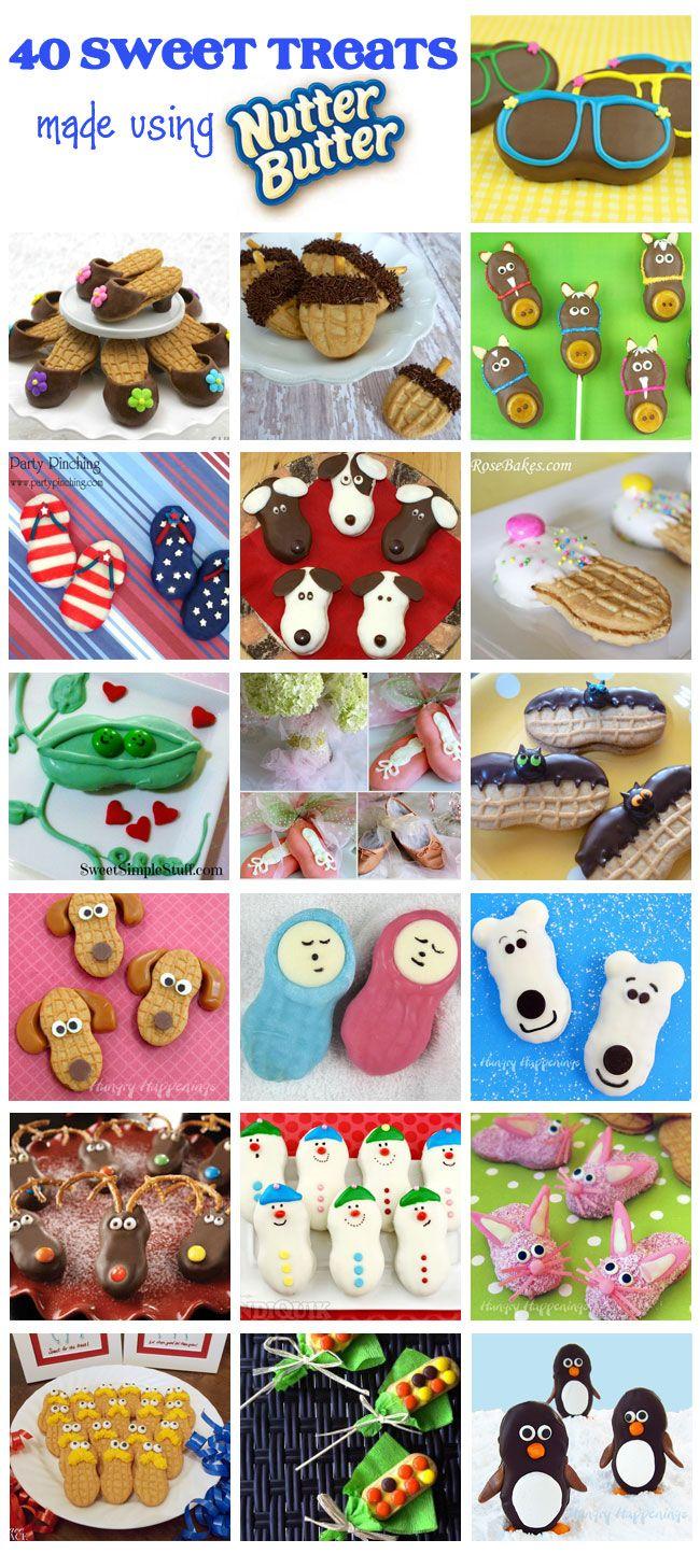 40 Sweet Treats made using Nutter Butter including my mini funny bunnies   http://blog.candiquik.com