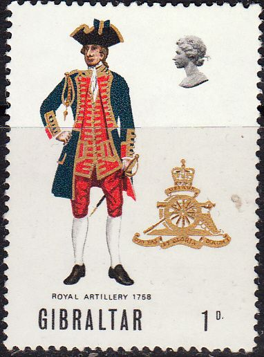 Gibraltar 1969 Military Uniforms SG 240 Fine Mint SG 240 Scott 226 Other Postage Stamps Here