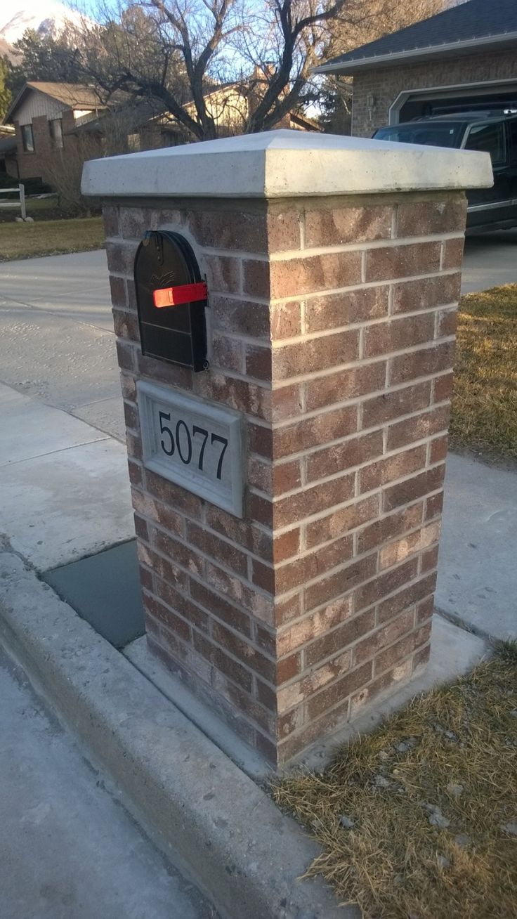 stone and brick mailbox ideas u2014 home design styling