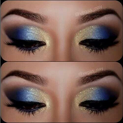 Gold/ blue eyeshadow | Hair and Beauty | Pinterest | Blue ...