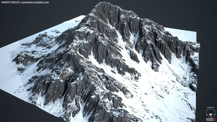 ArtStation - World Machine - Mountain, Aaron Fowler
