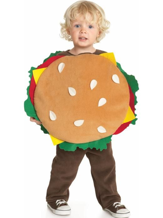 Limited edition halloween hamburger costume toddler old navy kid idea creative hungry food lunch dress up play