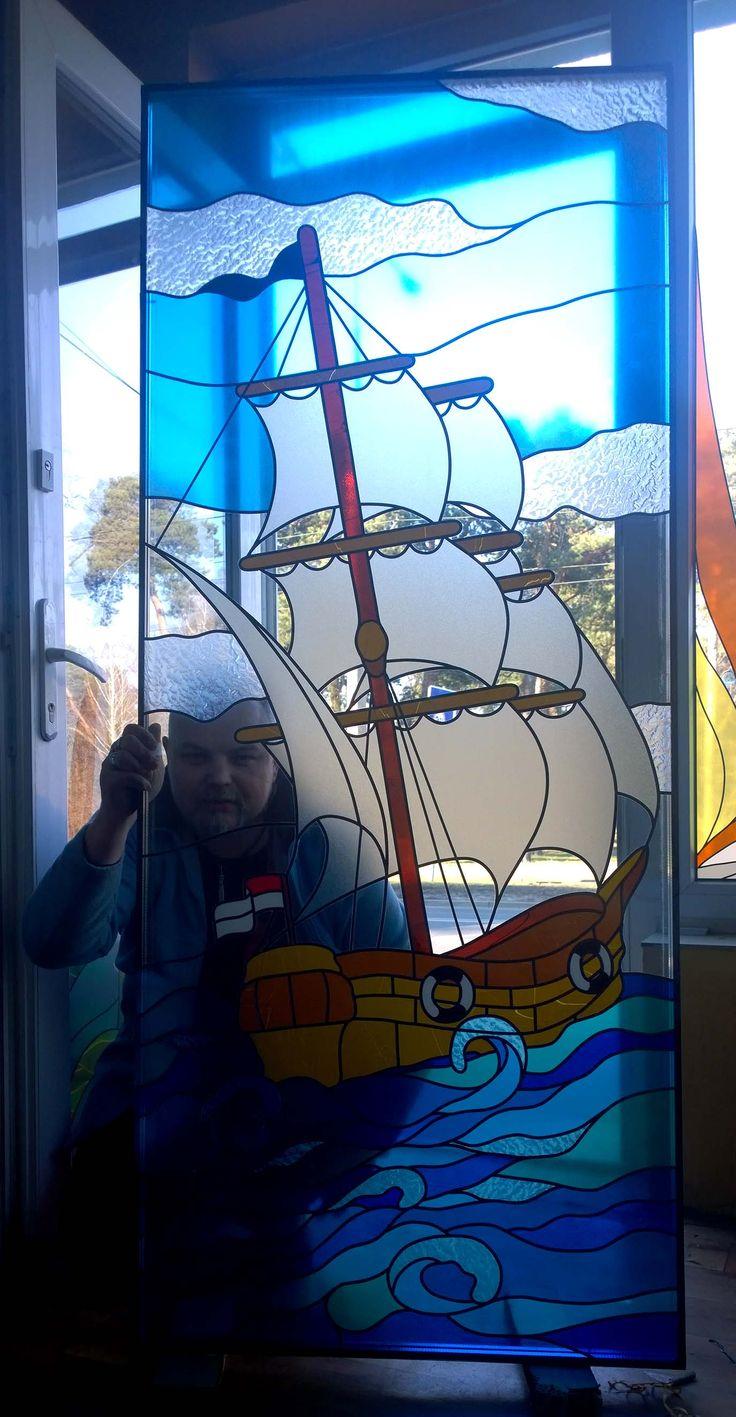 #glassatelier , #stainedglass , #overaly , #witraż , #ship ,
