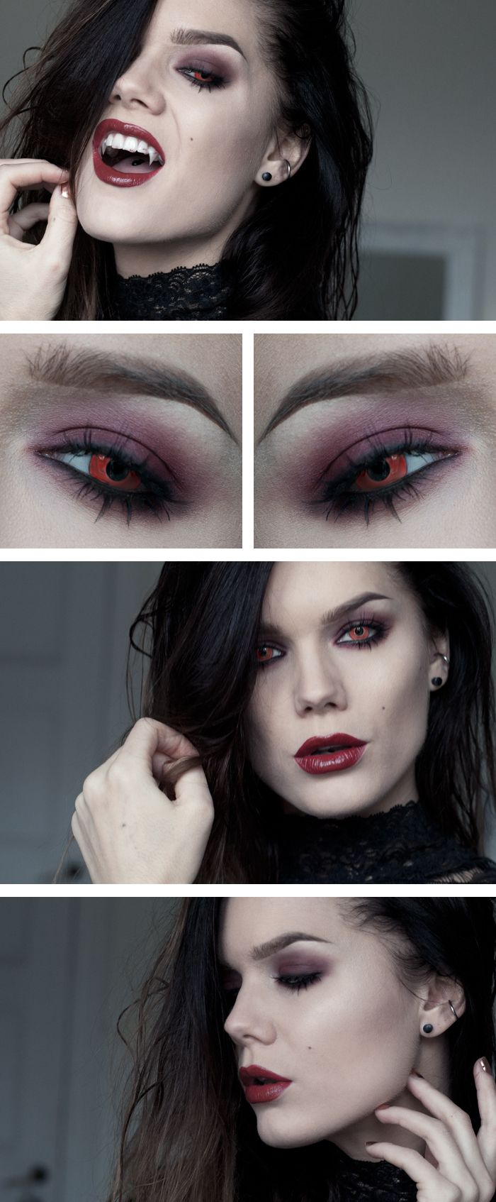 Halloweenlook – The vampire - Lindas Sminkblogg