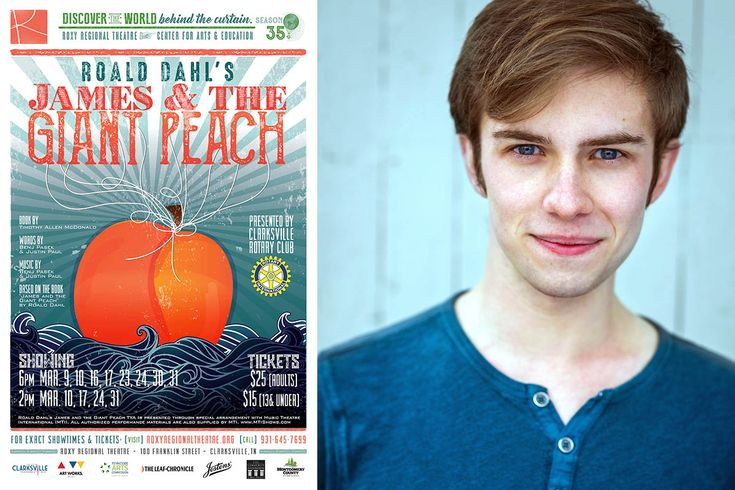 """Roxy Regional Theatre presents Roald Dahl's """"James and the Giant Peach"""", March 9th - March 31st"""