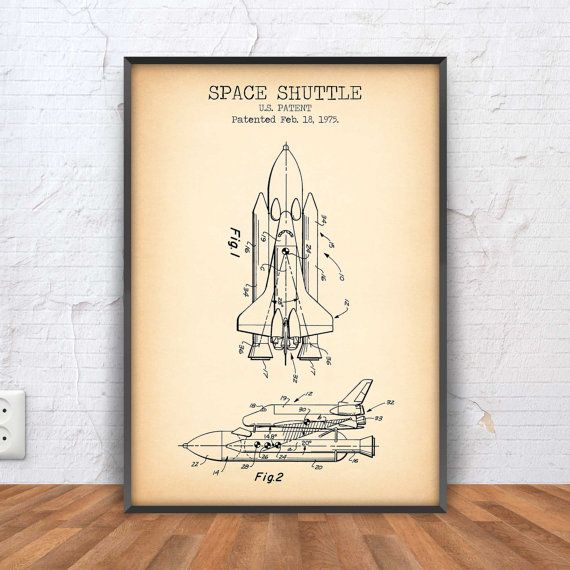 SPACE SHUTTLE poster space shuttle patent print by PrintPoint