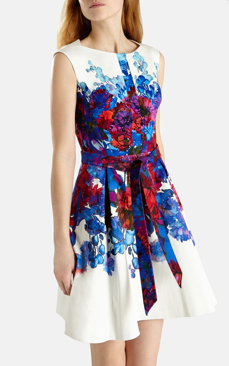 Perfect dress for a spring/summer wedding.  Full skirted print dress | Luxury Women's shop_all | Karen Millen