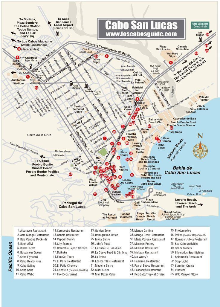 Cabo San Lucas Map - Los Cabos Guide