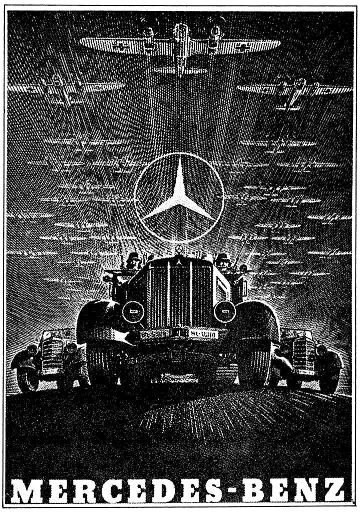 German wwii era mercedes benz nazi propaganda poster for Mercedes benz poster