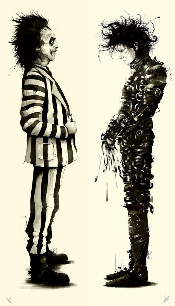 Bitelchús y Eduardo Manostijeras / Personajes ficticios creados por el genial director de cine Tim Burton.