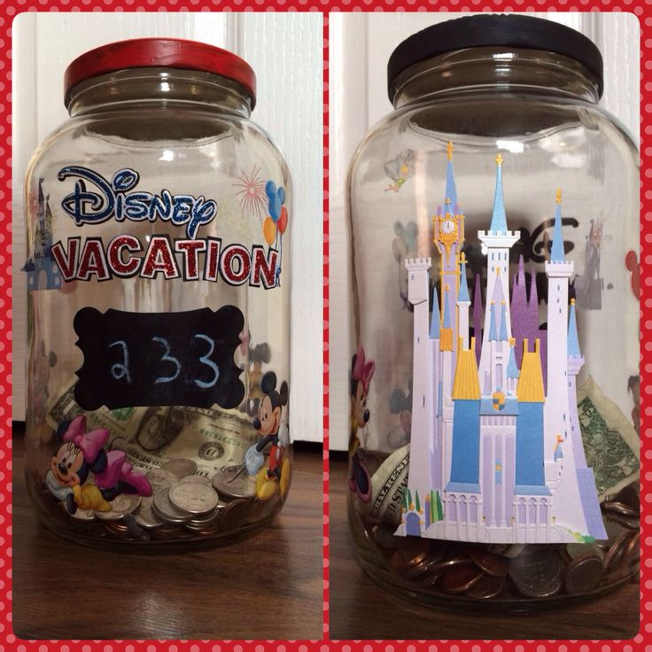 Count down to Disney Jar! Combination countdown/savings jar. Only 233 days till the Magic begins!