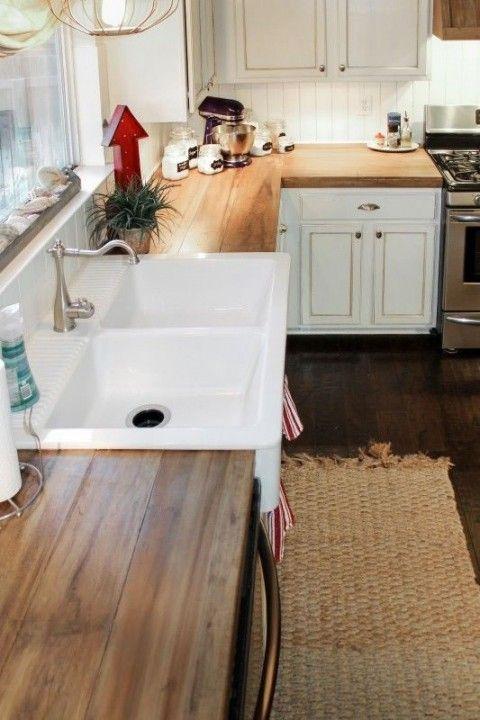 Por qué tener una mesada de madera en la cocina