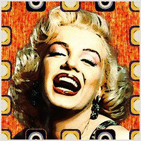 Marilyn Monroe. 01. Quadrinhos confeccionados em Azulejo no tamanho 15x15 cm.Tem um ganchinho no verso para fixar na parede. Inspirados em divas do cinema. Para entrar em contato conosco, acesse: www.babadocerto.com.br