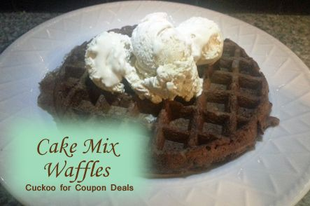 Cake Mix Waffles - slap some ice cream on top baby!