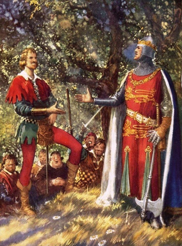 Robin Hood and Richard the Lionheart by John Millar Watt.