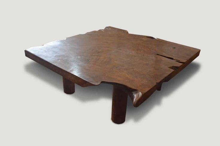 Single Slab Teak Coffee Table