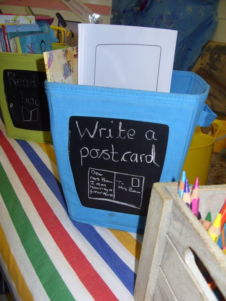 Write a postcard.
