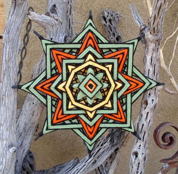 "Early Spring -11"" Ojo de Dios - Yarn Mandala"