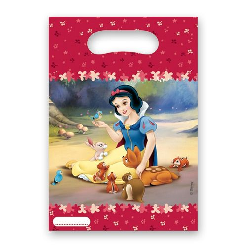 Snow White Party Bags - Your Snow White party princess guests will love taking home some special party treats in these pretty Snow White party bags.