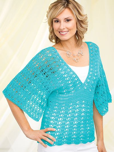 Crochet a summer top in summer yarn colors                                                                                                                                                     More