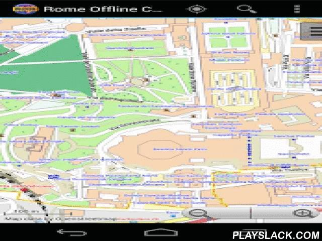 Rome Offline City Map Lite  Android App - playslack.com , With this app you have the map of Rome right in your pocket! It offers an interactive map that lets you browse the city at amazing detail. Additionally, it comes with a search index for locating streets, but also other points of interest such as museums, restaurants, cafés, hotels, sights and many more. After installing the app, no internet access is required anymore, neither for browsing the map nor for using the search…