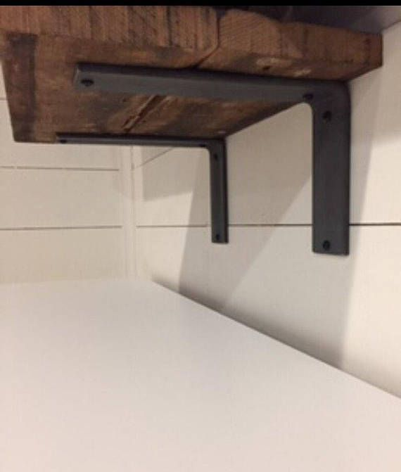 Raw Steel Shelf Bracket L Bracket Heavy Duty Rustic Shelf Steel Shelf Brackets Steel Shelf Shelf Brackets