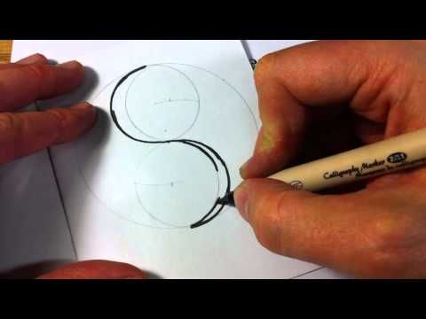 Hot to Draw a Celtic Spiral 1 - Double Spiral from Book of Kells (Yin Yang)