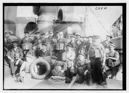 Crew of SS Grosser Kurfürst, Bremen (LOC), via Flickr.